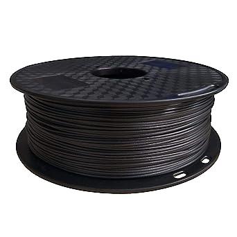 KEHUASHINA Fibra de carbono Relleno PETG Filamento Negro 1 KG (2.2 ...