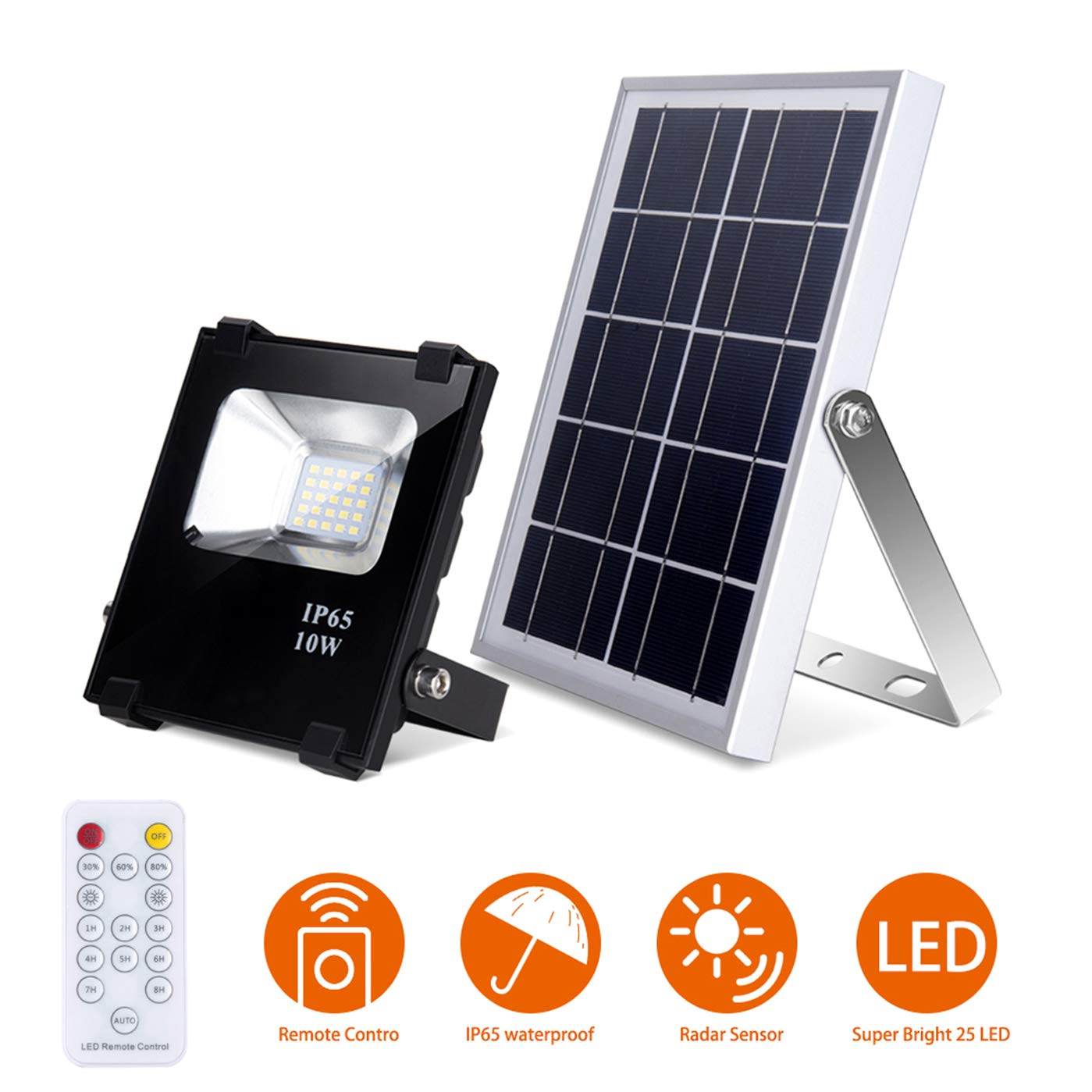 Solar Flood Lights with Remote LED Solar Light 25 LEDs Waterproof Solar Security Lights Dusk to Dawn Outdoor Lighting Solar Panel Light for Yard, Garden, Patio by Richarm