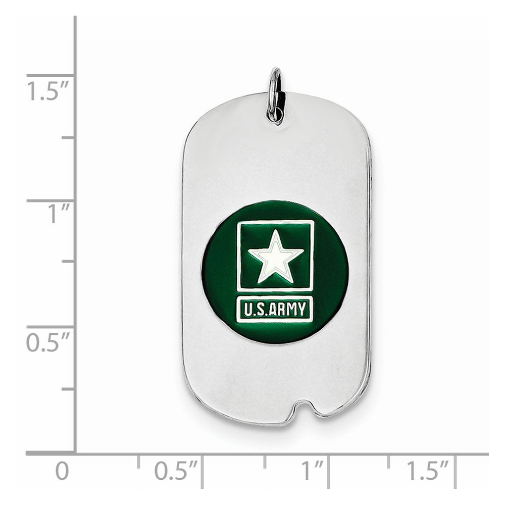 Pendants Career and Profession Charms .925 Sterling Silver US Army Star Dog Tag Charm Pendant