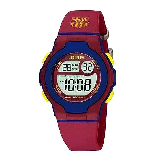 Reloj F.C. Barcelona Lorus niño Azul Rojo Digital R2337HX9 [AB5880] - Modelo: R2337HX9: Amazon.es: Relojes
