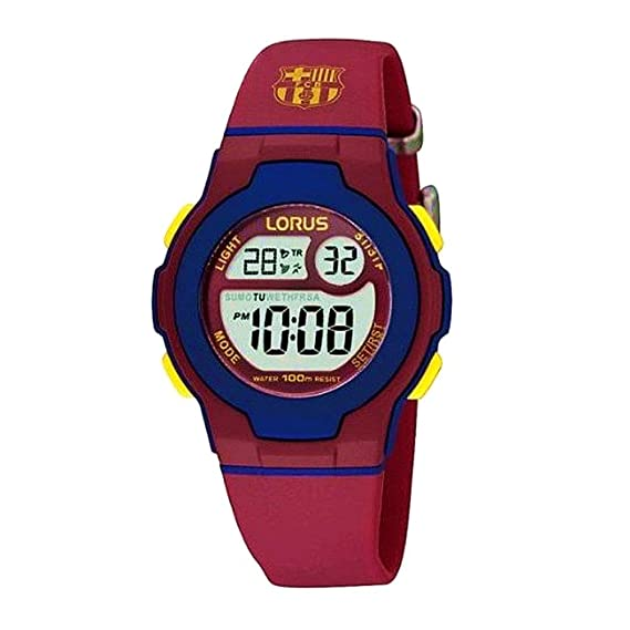 803566d7dbef8 Reloj F.C. Barcelona Lorus niño Azul Rojo Digital R2337HX9  AB5880  -  Modelo  R2337HX9  Amazon.es  Relojes