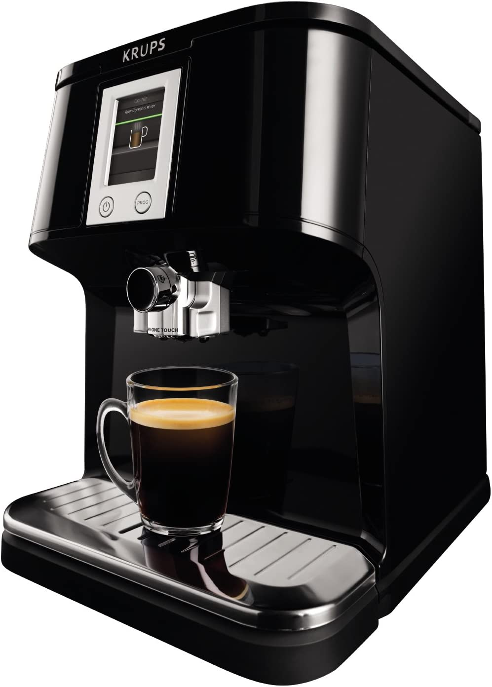 Krups EA850B - Cafetera (Independiente, Negro, Espresso machine, Granos de café, Capuchino, Café expreso, Latte macchiato, Ristretto, 1,7L): Amazon.es: Hogar