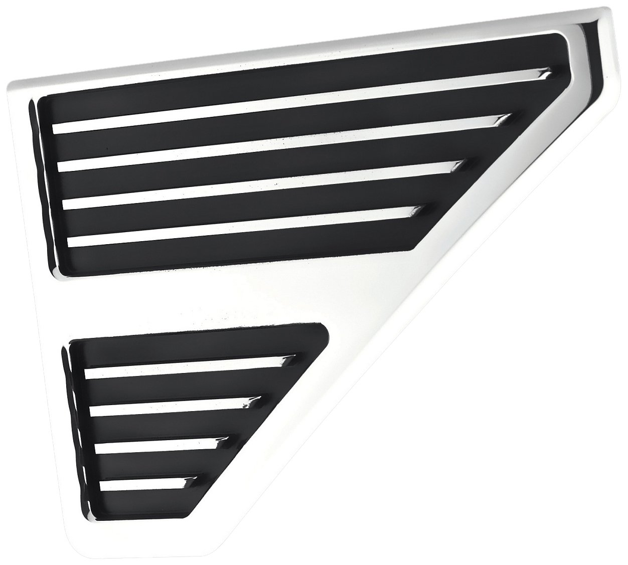 GenRight Off Road LVR-1008 Black 3 Piece Hood Louver Vent Set For Jeep Cherokee Wrangler Fits Any Vehicle Universal Fit