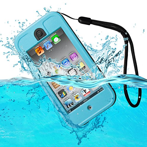 ULAK Waterproof Case for iPod Touch 5 & 6, Built-in Touch Screen for Dustproof Sweatproof with Kickstand - For Ipod Touch Lifeproof Case
