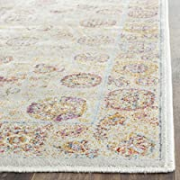 Safavieh Sevilla Collection SEV812D Silver and Multi Silky Viscose Distressed Runner (21 x 8)