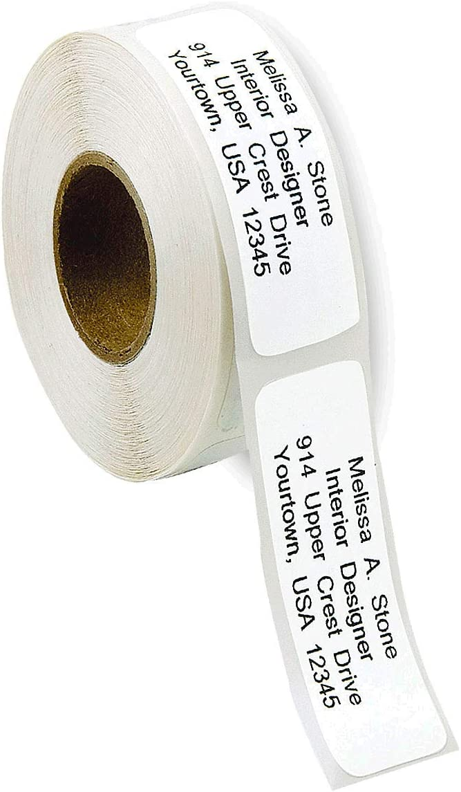 Gloss White Rolled Address Labels Without Dispenser by Colorful Images