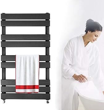 Perfect for Bathrooms Bathroom Flat Panel Heated Towel Rail Radiator Vertiacal Column Anthracite Sand Grey 1000x450mm Modern Central Heating Space Saving Radiators