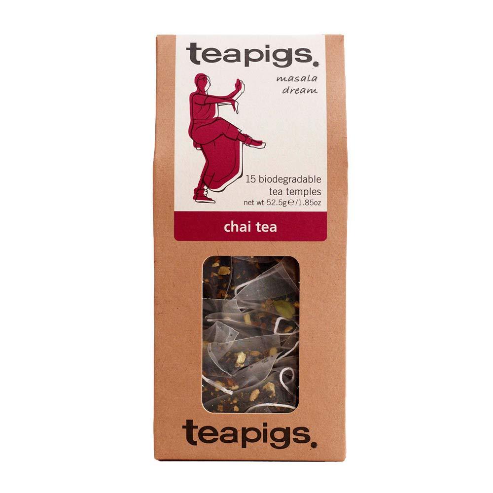 Teapigs Masala Dream Chai Tea Bags Made With Whole Leaves (1 Pack of 15 Tea bags)
