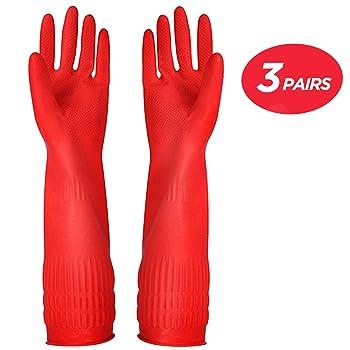 YSLON Ruber Dishwashing Gloves