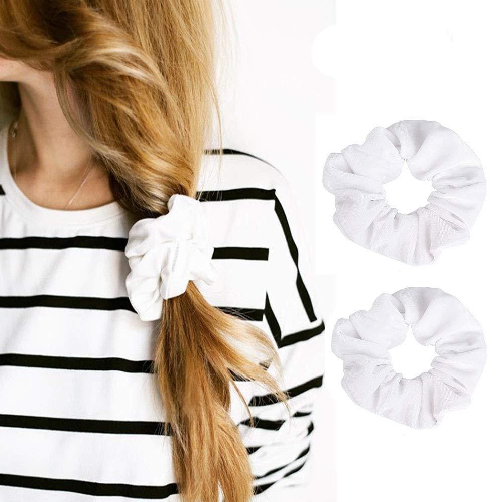 hair ties light scrunchie White scrunchie blank scrunchie hair bows velvet scrunchie soft scrunchie