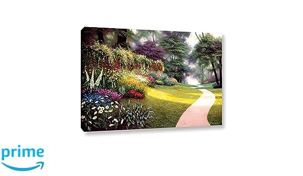 Egidio Antonaccio Flags And Flowers Gallery Wrapped Canvas 14X18