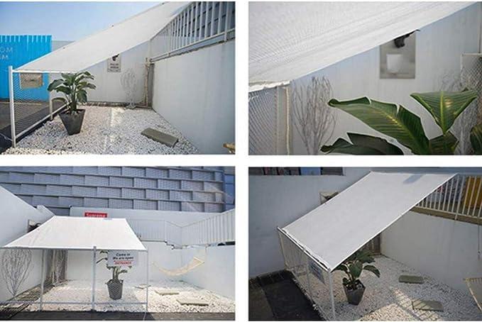 YGUOZ Pesado Malla sombreo toldo, Robusto Duradero Malla ocultacion, Cifrado Transpirable Vela De Sombra, para Puerta Patio Pérgola Plantas,White_6x3m(20x10ft): Amazon.es: Hogar