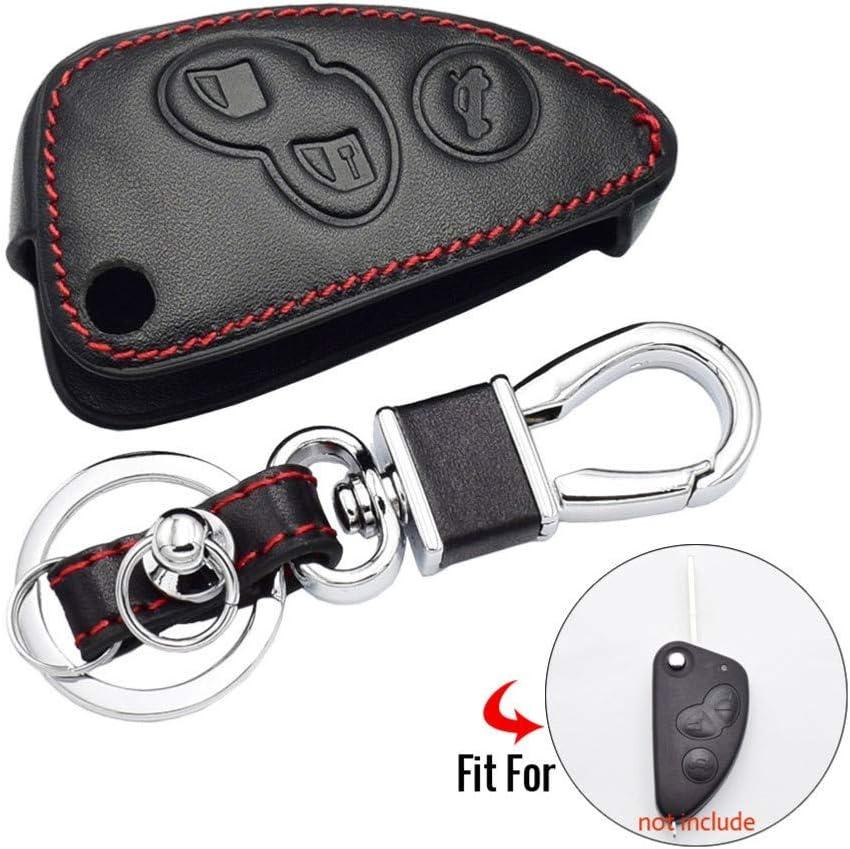 WQSNUB Folding Keychain Keys Bag Remote Fobs Shell Cover Accessories Leather Car Key Case,for Alfa Romeo 147 156 166 GT JTD TS