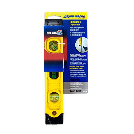 Swanson Tool TL021M 9-Inch Speedlite Torpedo Level with Rubber End Caps - - Amazon.com