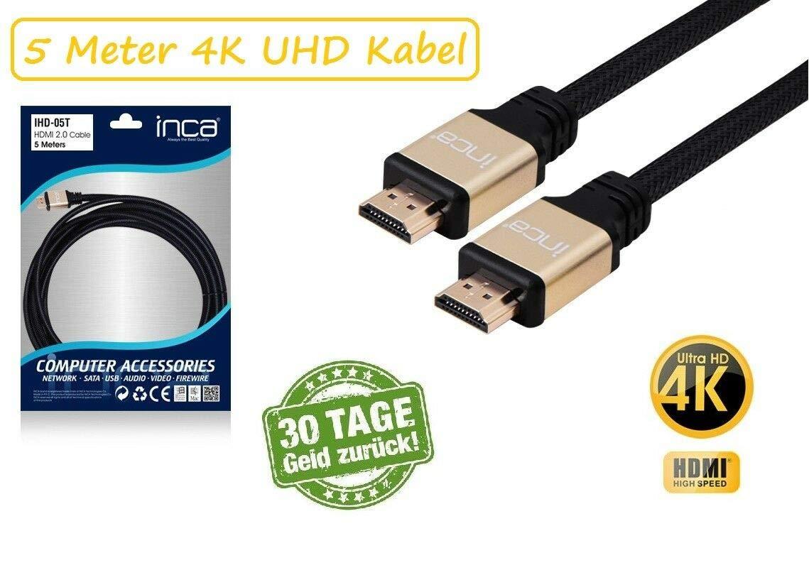 INCA IHD-05T高速HDMI 2.0ケーブル、4Kおよび3D、5メートル B07MCTG9QT