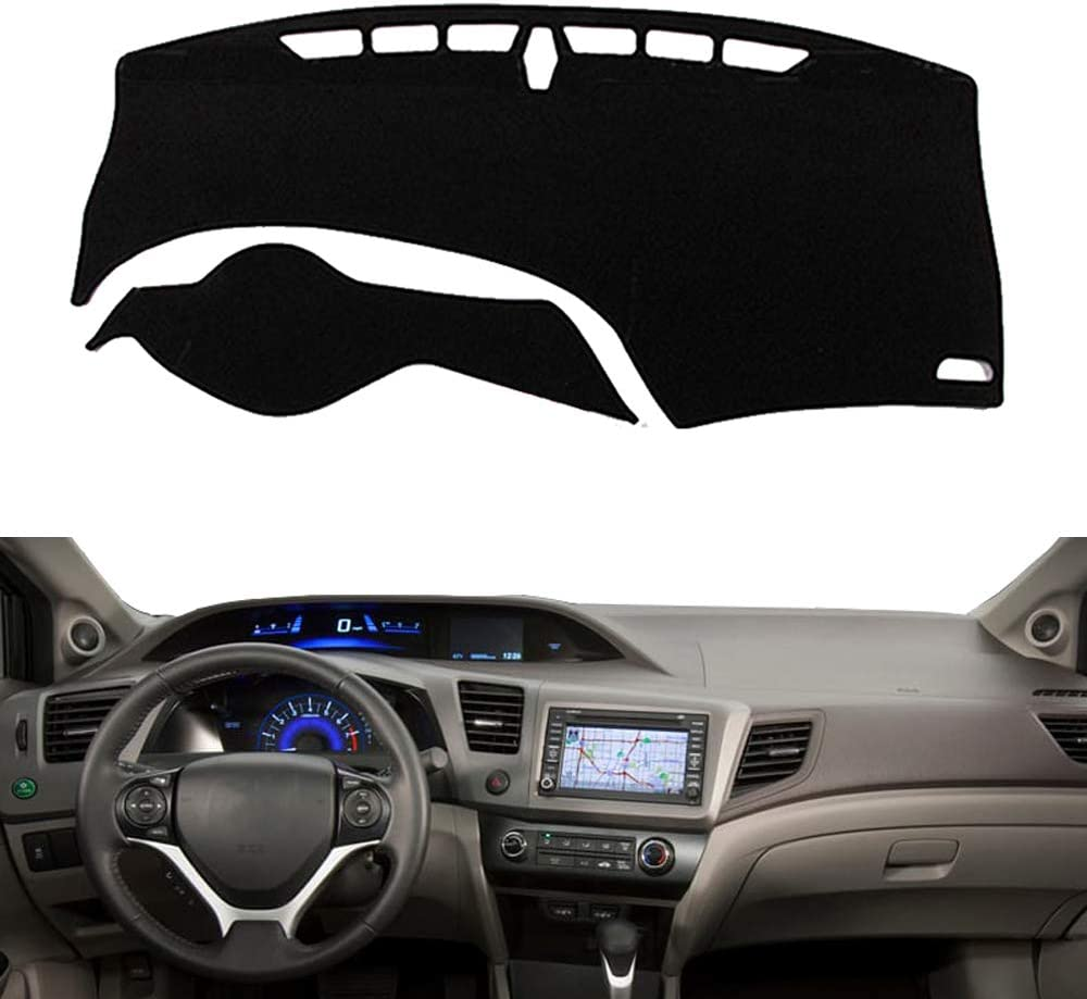 North American Version Only Not Fit Civic Europe Auto Inner Sun Shade Dash Board Mat Cover Pad Compatible with Fit for Honda Civic 2012 2013 2014 2015