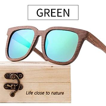 Sunbobo Gafas de Sol de Verano Gafas de Sol de Madera UV-400 ...