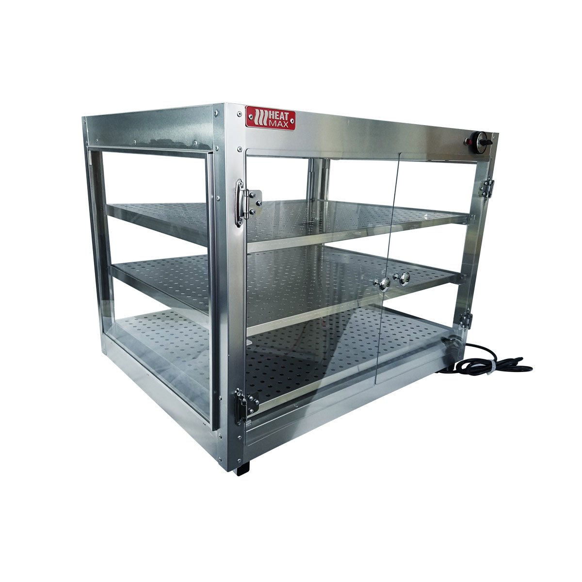Commercial Food Pizza Pastry Warmer Countertop Cabinet 30''x24''x24'' Wide Display