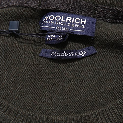Wool Men Verde Uomo Green Woolrich 5986w Maglione Sweater w7wg4RX