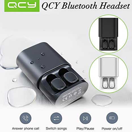 StageOnline Auriculares Bluetooth, QCY T1 Pro Touch Bluetooth Auriculares TWS Mini Auriculares inalámbricos con Mic