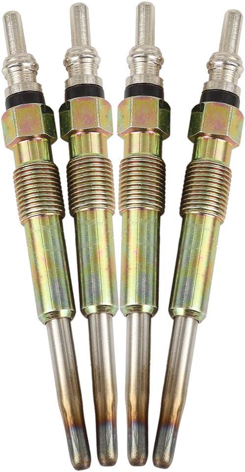 KIMISS Diesel Glow Plugs Steel 4Pcs//Set Diesel Heater Glow Plugs Spark Plugs Fit For A3 A4 1.9 TDI 2.0 TDI