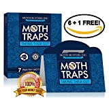 (7) Pantry Moth Traps Safe Non-Toxic Professional Pheromone Trap NO Insecticides Moth Busters (6 + 1 Free!)