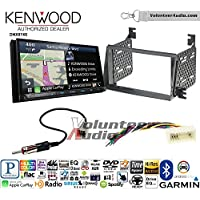 Volunteer Audio Kenwood DNX874S Double Din Radio Install Kit with GPS Navigation Apple CarPlay Android Auto Fits 2006-2008 Hyundai Azera