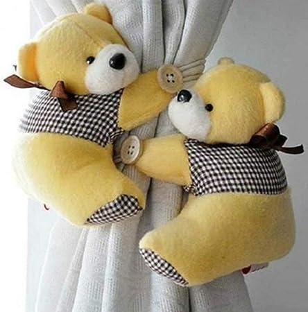 2 Pairs Cute Lovely Cartoon Bear Curtain/'s Clip Buckle Tieback Curtain Strap