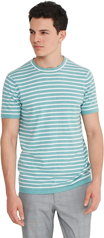 1960s Mens Shirts   60s Mod Shirts, Hippie Shirts State Cashmere Mens Crewneck T-Shirt Cotton Cashmere Short-Sleeve Sweater Top  AT vintagedancer.com