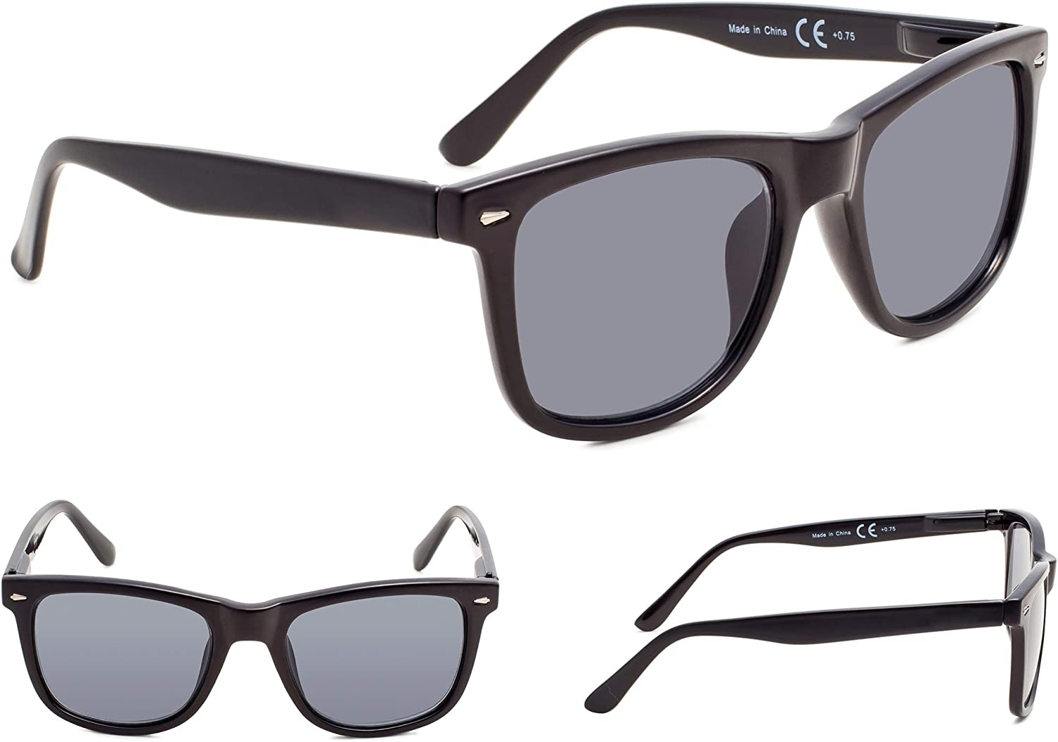 4-Pack Large Lenses Reading Glasses with Spring-Hinges