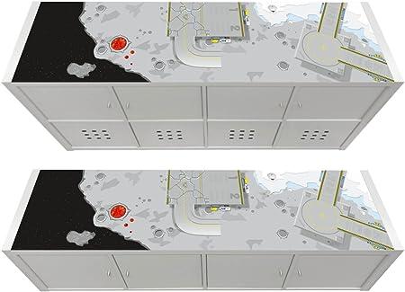 Stikkipix Flughafen M/öbelfolie M/öbel Nicht inklusive KSWL11 passend f/ür Das Regal KALLAX von IKEA -