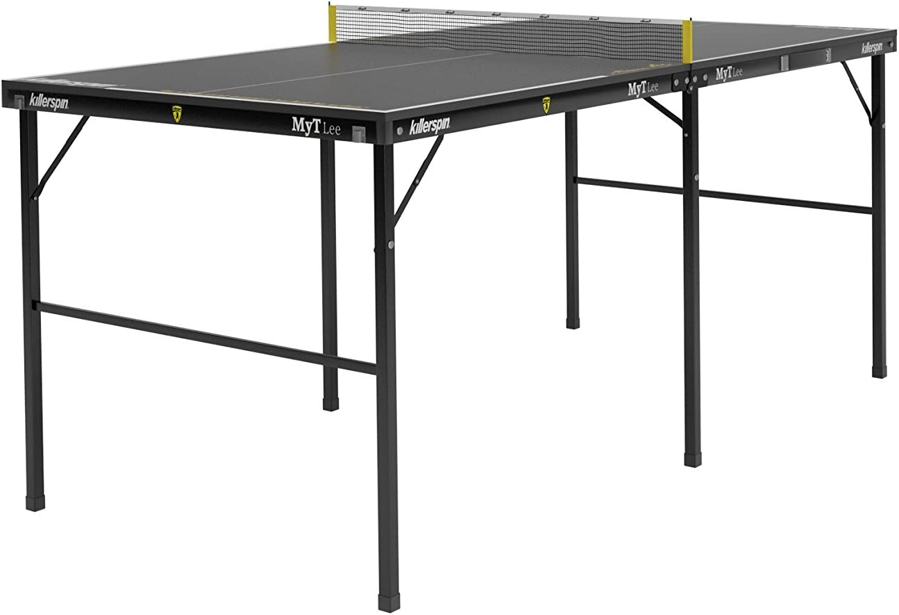 Killerspin Mesa de Ping Pong MYT Lee, Unisex-Adult, Negro-Negro, One Size