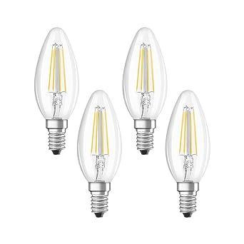Osram 042940 Bombilla LED E14, 4 W, Blanco 4 Unidades