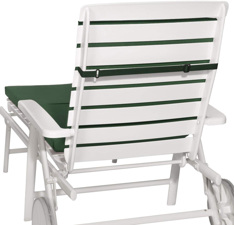 Beautissu Cuscino Imbottito per sedie a Sdraio e lettini Prendisole Loft RL 200x60x5 cm Beige sfoderabile