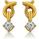 Mahi Gold Plated Genius Earrings with Crystals for Women ER1108722G