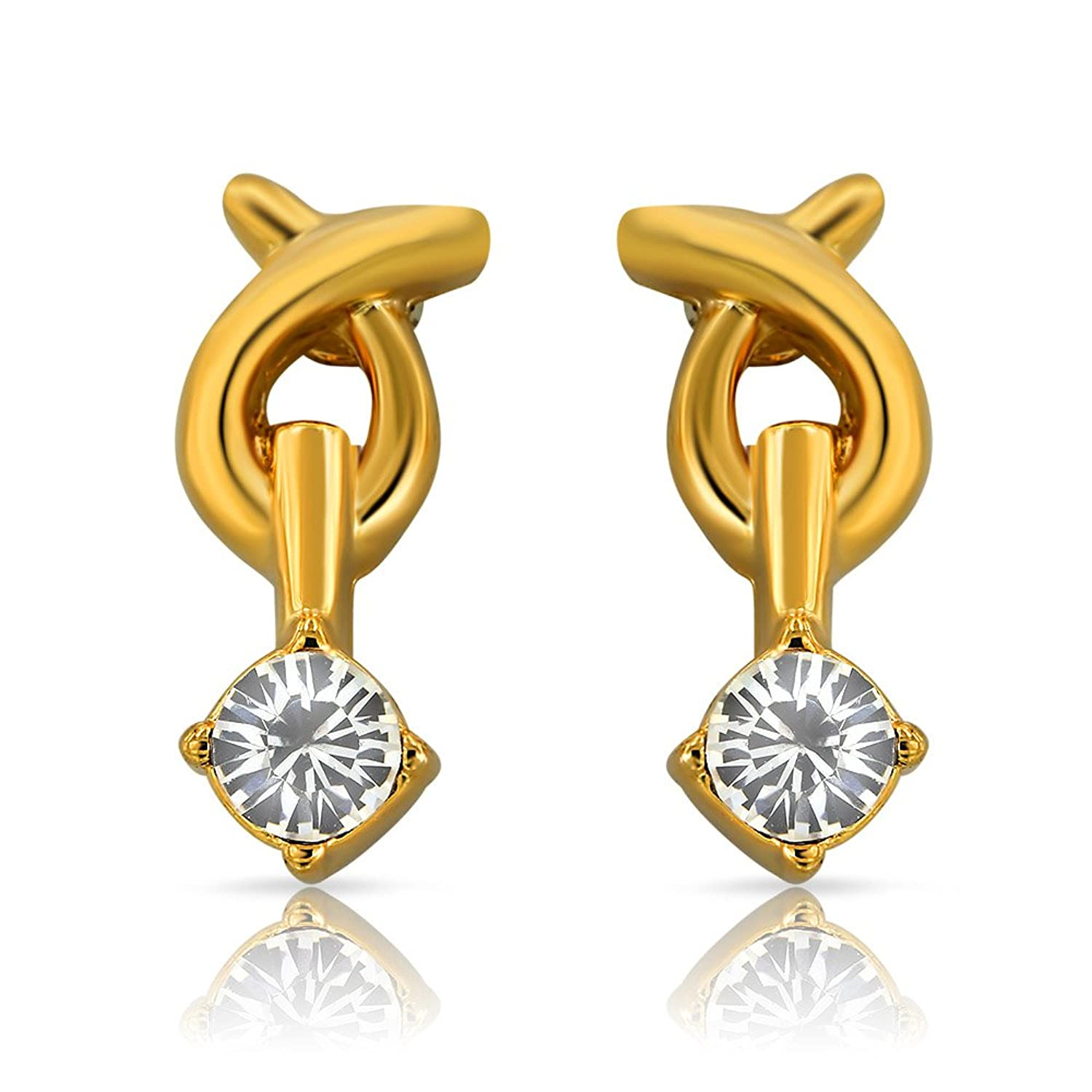 Buy Mahi Gold Plated Genius Earrings With Crystals For Women Er1108722g  Online At Low Prices In India  Amazon Jewellery Store  Amazon
