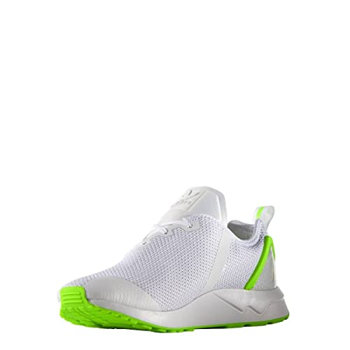 size 40 559fb 5ca24 Adidas Originals ZX Flux ADV ASYMMETRICAL Shoes Men s Trainers AQ3166 -  White   Green (10