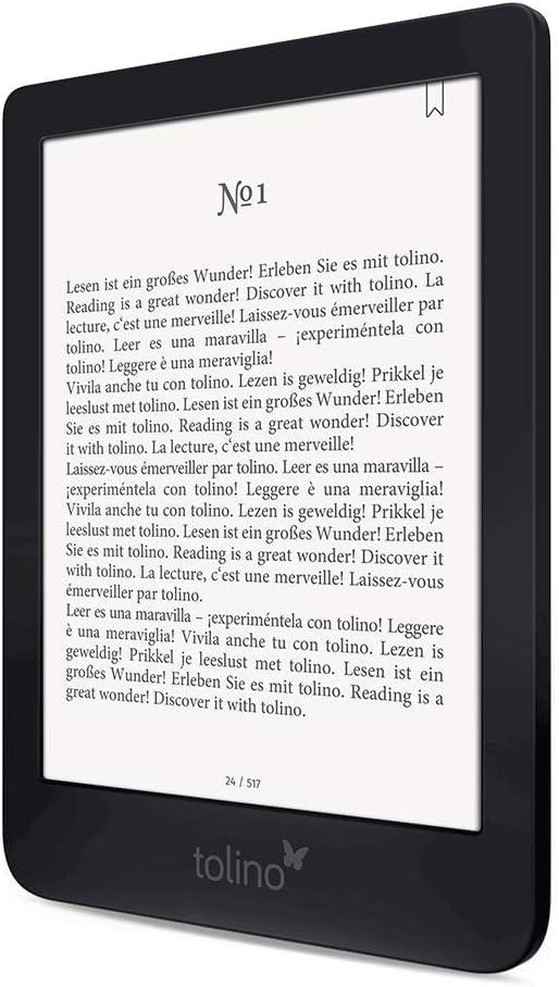 Tolino Shine 3 lectore de e-Book Pantalla táctil 8 GB Negro ...