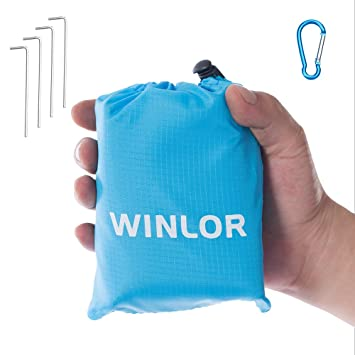 Amazon.com: WINLOR - Manta de bolsillo compacta resistente ...