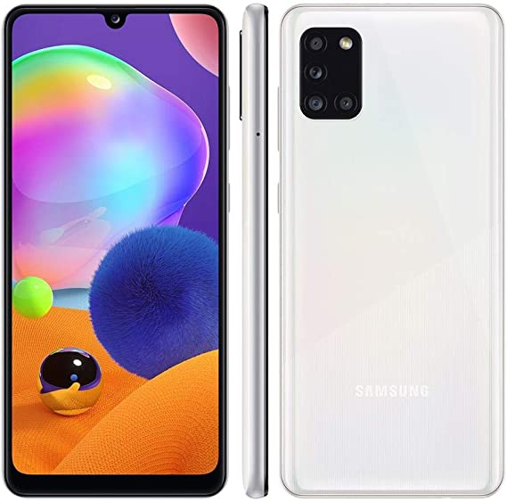 Samsung Galaxy A31 Branco, Tela de 6, 4, 4G, 128GB e Camera de 48MP + 8MP +  5MP + 5MP | Amazon.com.br