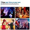 Party Light Vnina 3 W 7Color RBG Disco DJ Lighting for Wedding Christmas Halloween Decoration Family Gatherings Karaoke Bar Birthday Gifts
