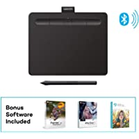 "Wacom Intuos Wireless Graphics Drawing Tablet with 2 Bonus Software included, 7.9"" x 6.3"", Black (CTL4100WLK0)"