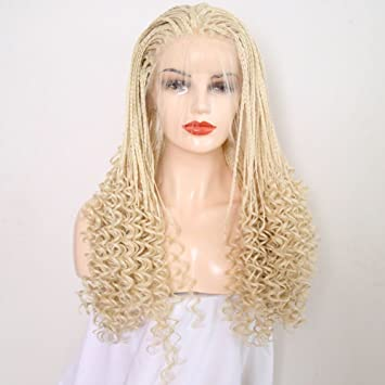 Amazoncom Rongduoyi Long Synthetic Lace Front Wig Blonde Hair