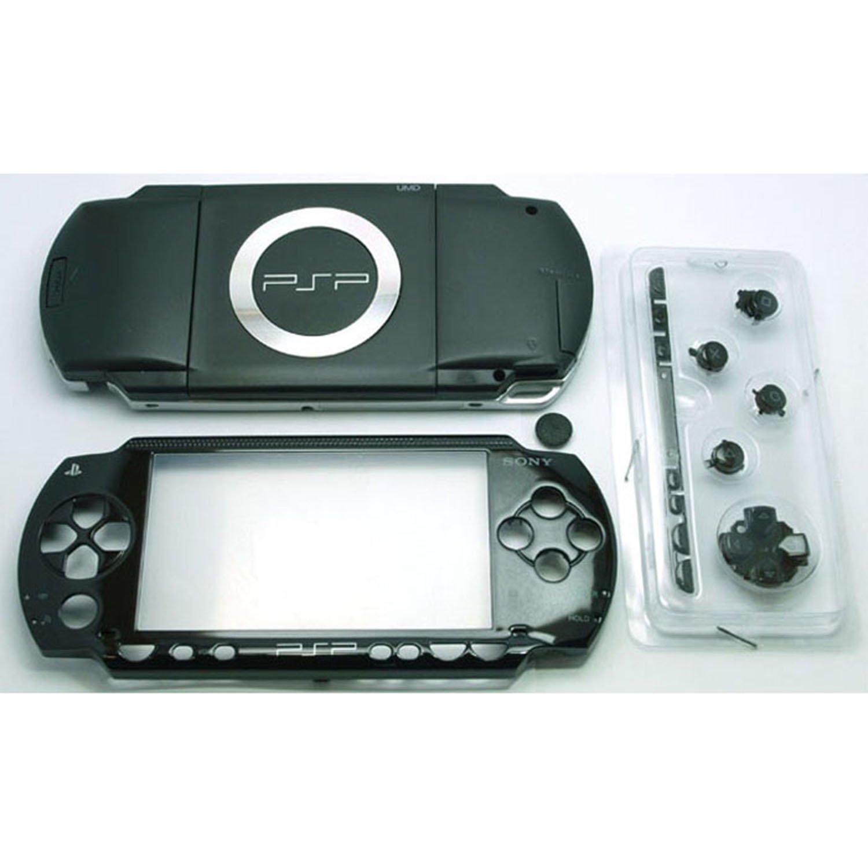 Negro piano - Juego de Sony PSP 1000 carcasa completa Funda ...