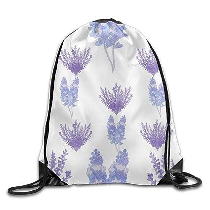 ca38bc98fc05 Amazon.com: Drawstring Bags Gym Bag Travel Backpack Lavender Purple ...
