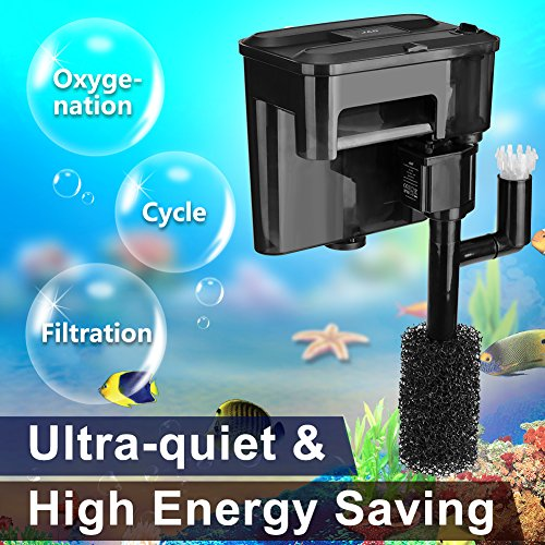 JAD Power Aquarium Filter,Bio-Filter waterfall style 95 GPH 350L/H (Bio Waterfall Filter)