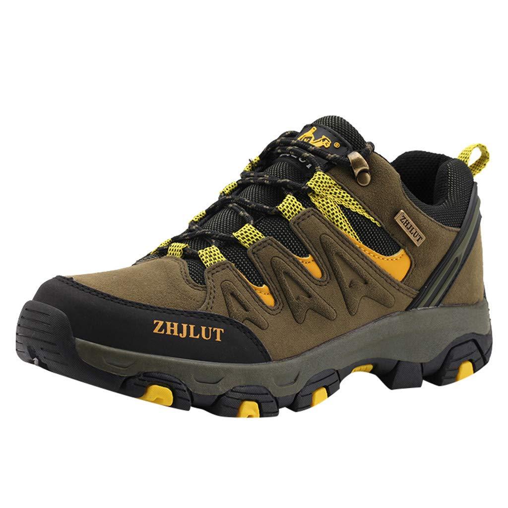 Corriee Hiking Shoe Womens Mens Outdoor Trekking Low-top Non-Slip Walking Shoes Green