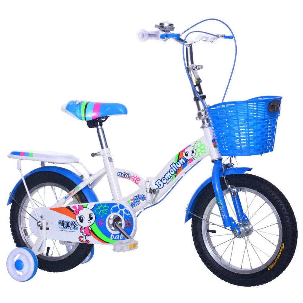 子供用折りたたみ自転車, 学生折りたたみ自転車 軽量 折りたたみ自転車 5-6 年の古い B07DKBMB2P 18inch|青 青 18inch
