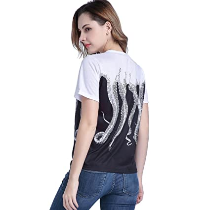 Amazon.com: DondPO Fashion Womens T Shirt Printed Short Sleeve Casual Blouse Loose Graphic T-Shirt Tops Tees: Clothing