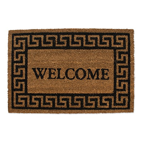 Natural Coir Coco Fiber Non-Slip Outdoor/Indoor Doormat, 19.5x29.5
